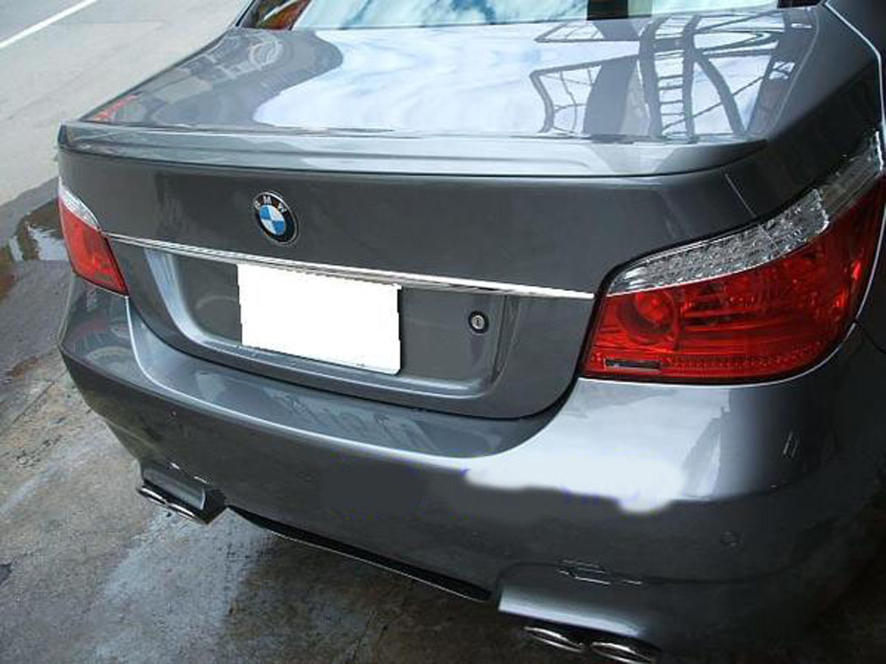 bmw e60 trunk deck lip spoiler m5 type 528i 535i 525i 530i 550i m5 2004 2010 ebay. Black Bedroom Furniture Sets. Home Design Ideas