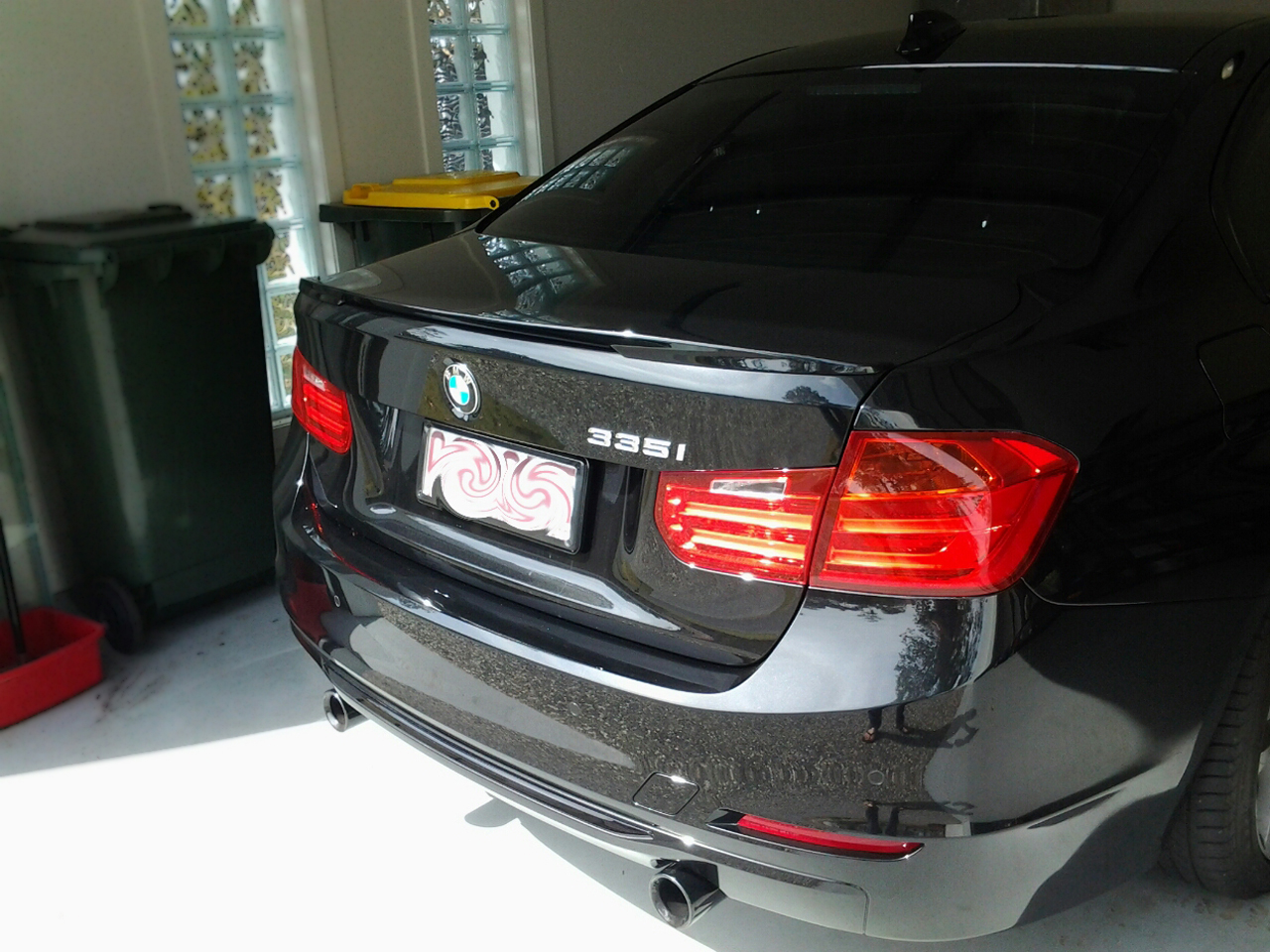 bmw f30 trunk deck lip spoiler p type 2012 2014 ebay. Black Bedroom Furniture Sets. Home Design Ideas
