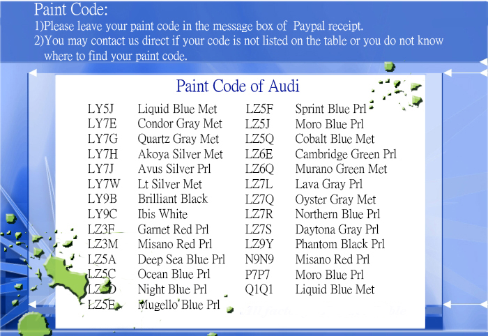 2002 audi a6 paint code location  2002  free engine image