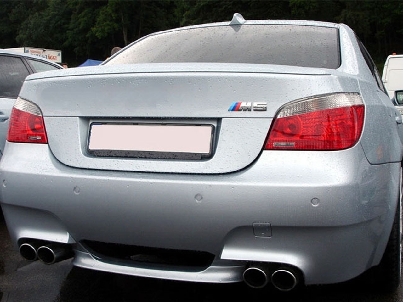 unpainted rear trunk spoiler bmw e60 m5 type 2004 2010 ebay. Black Bedroom Furniture Sets. Home Design Ideas