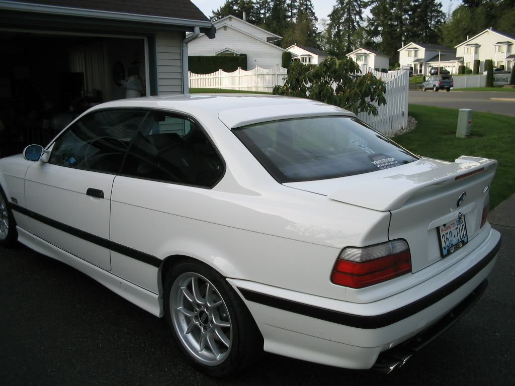 Painted Process Roof Spoiler For BMW E D Coupe A Type - E36 ac schnitzer spoiler